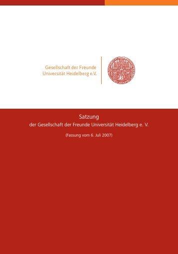 Satzung - Gesellschaft der Freunde Universität Heidelberg eV