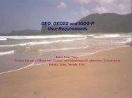 GEO, GEOSS and IGOS-P User Requirements - Nevada Geodetic ...
