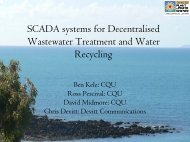 SCADA systems for Decentralised Wastewater Treatment and Water ...