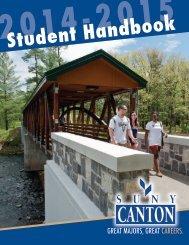 Student Handbook - SUNY Canton