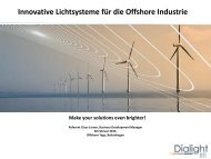 Innovative Lichtsysteme für die Offshore Industrie - Offshoretage