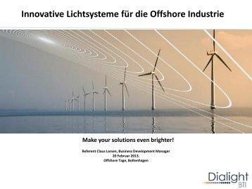 Innovative Lichtsysteme für die Offshore Industrie - Offshoretage