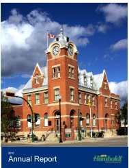 Annual Report - City of Humboldt