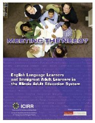 immigrant adult learners in Illinois - icirr