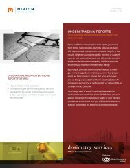 Understanding Reports - Environmental Health & Safety