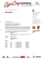INVITATION - SC Cottbus Turnen e.V.