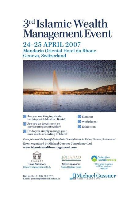 Islamic Wealth Management Geneva Conference - John A  Sandwick