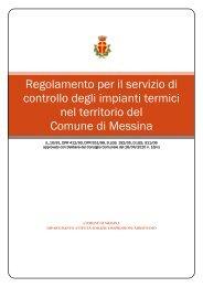 Regolamento verifica impianti termici - Comune di Messina