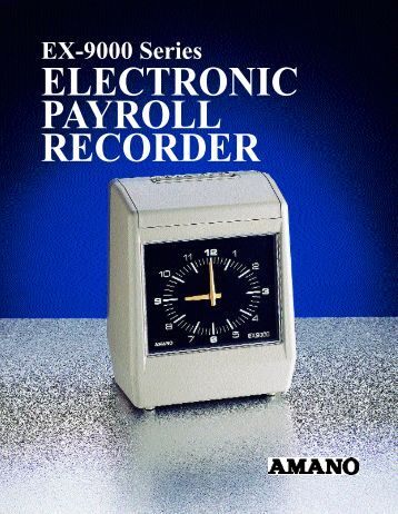 Download EX-9000 Brochure - Cleveland Time Clock