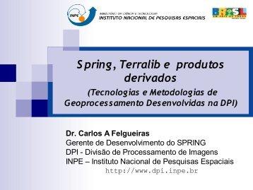 Spring, TerraLib e Produtos - INPE-DGI
