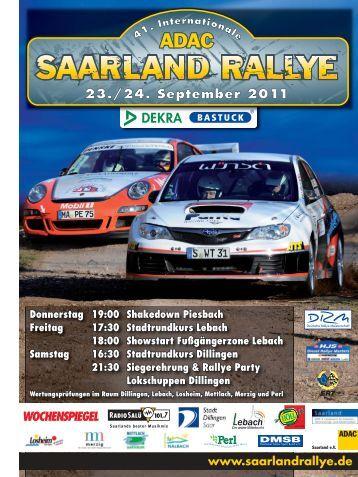 41. Int. ADAC Saarland Rallye lädt zum Saisonfinale ein