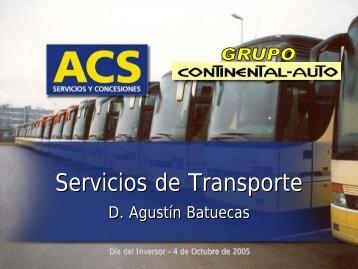 CONTINENTAL AUTO: Servicios de Transporte - Grupo ACS