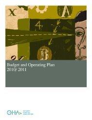 Microsoft Word - OHA Budget and Operating Plan 201011 - Ontario ...