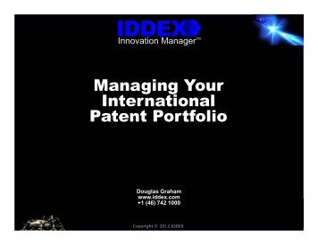 Managing Your International Patent Portfolio - Managing Intellectual ...
