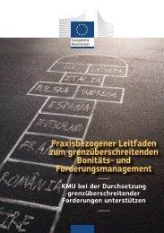 Praxisbezogener Leitfaden zum grenzüberschreitenden ... - Europa