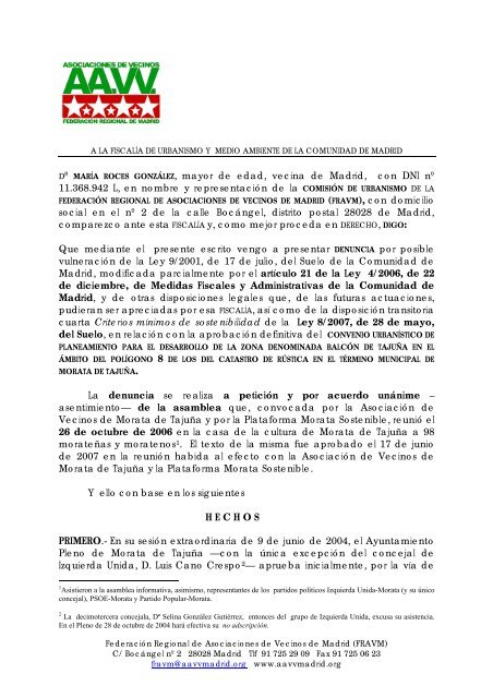 Dª María Roces González Mayor De Edad Vecina De Madrid