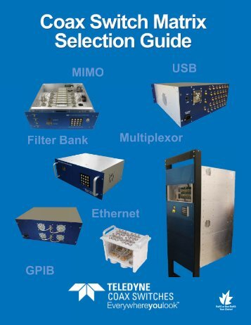 Download our Matrix Selection Guide! - Teledyne Coax Switches