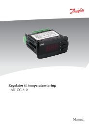 Regulator til temperaturstyring - AK-CC 210 Manual