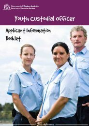 YCO Application Information Booklet - Department of Corrective ...