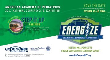 SAvE thE DAtE - American Academy of Pediatrics National ...