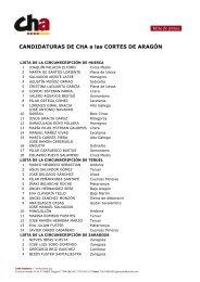 Lista de candidatos - Aragón Digital