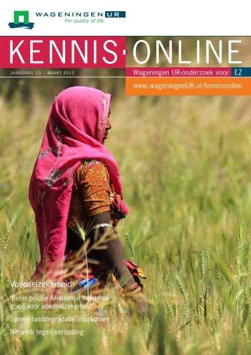 KennisOnline maart 2013: Voedselzekerheid (2 ... - Wageningen UR