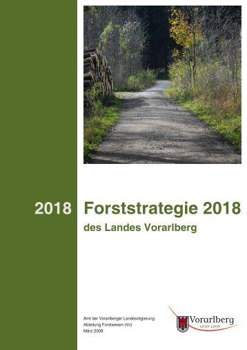 Forststrategie 2018 - Vorarlberg