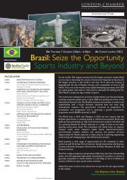 Brazil: Seize the Opportunity Sports Industry and Beyond - London ...
