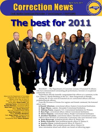 The best for 2011 - North Carolina Department of Corrections