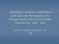 Assessing Consumer Satisfaction with Services Managed by the ...