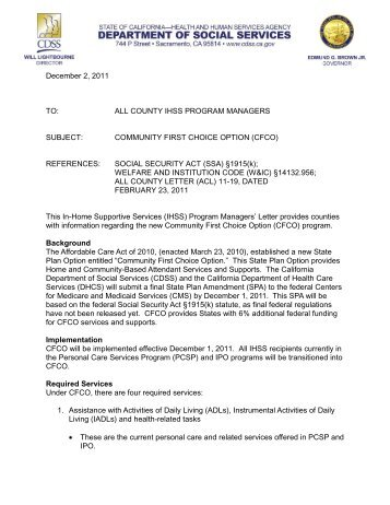 Letterhead template - IHSS   In-Home Supportive Services Coalition