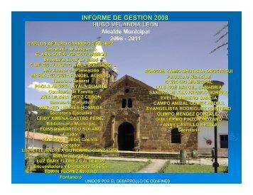 INFORME DE GESTION 2008 - www.confines-santander.gov.co.