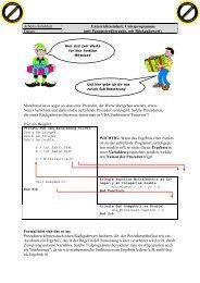 Unterrichtseinheit: Unterprogramme - Klassenwiki