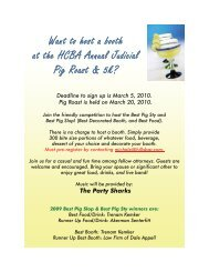 Want to host a booth at the HCBA Annual Judicial Pig Roast & 5k?