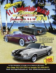 Florida - Ft. Lauderdale Collector Car Auction, Presented By Dave ...