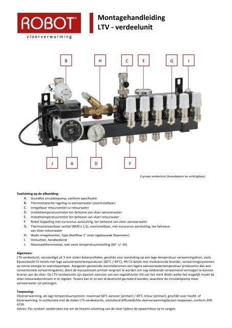 Top lage temperatuur)-verdeelunit - Robot Vloerverwarming NN11