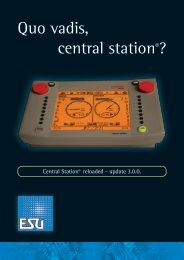 Quo vadis, central station®? - ESU