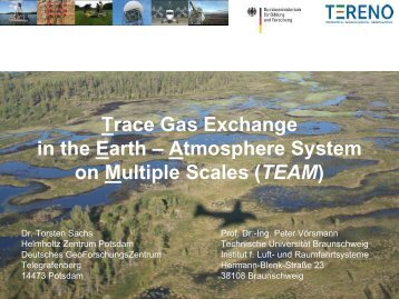 Atmosphere System on Multiple Scales (TEAM) - bei TERENO