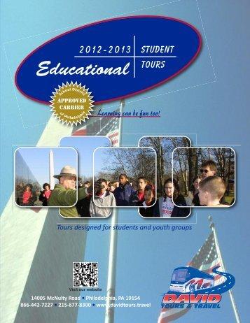 2013 Educational Brochure - David Tours & Travel