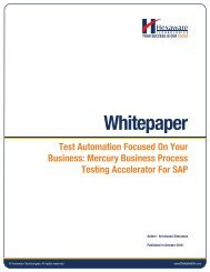 Mercury Business Process Testing Accelerator For SAP - Hexaware