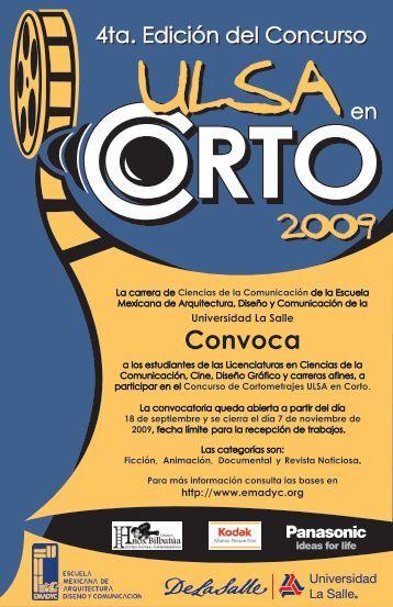 CONVOCATORIA ULSAEN CORTO 2009 - EMADyC.org
