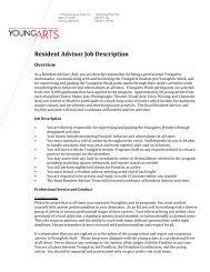 Resident Advisor Job Description