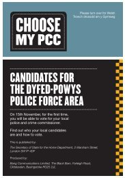 Candidates for the dyfed-Powys PoliCe forCe area - CHOOSE MY ...