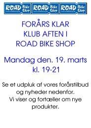FORÃ…RS KLAR KLUB AFTEN I ROAD BIKE SHOP ... - CK Aarhus
