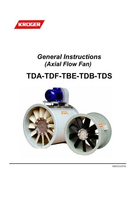 Axial Flow Fan) TDA-TDF-TBE-TDB-TDS - Kruger Ventilation