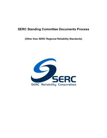 Standing Committee Documents Process - SERC Home Page