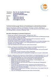 1 Titel Name Prof. Dr. Dr. Friedrich W. Hesse Institution ... - ZEvA