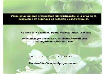 Tecnologías limpias alternativas (biofertilizantes) a la urea en la ...