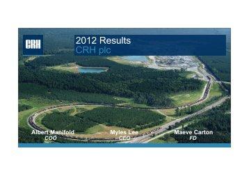 2012 Results Presentation - CRH