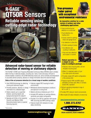 R-GAGE™ QT50RAF* Sensor